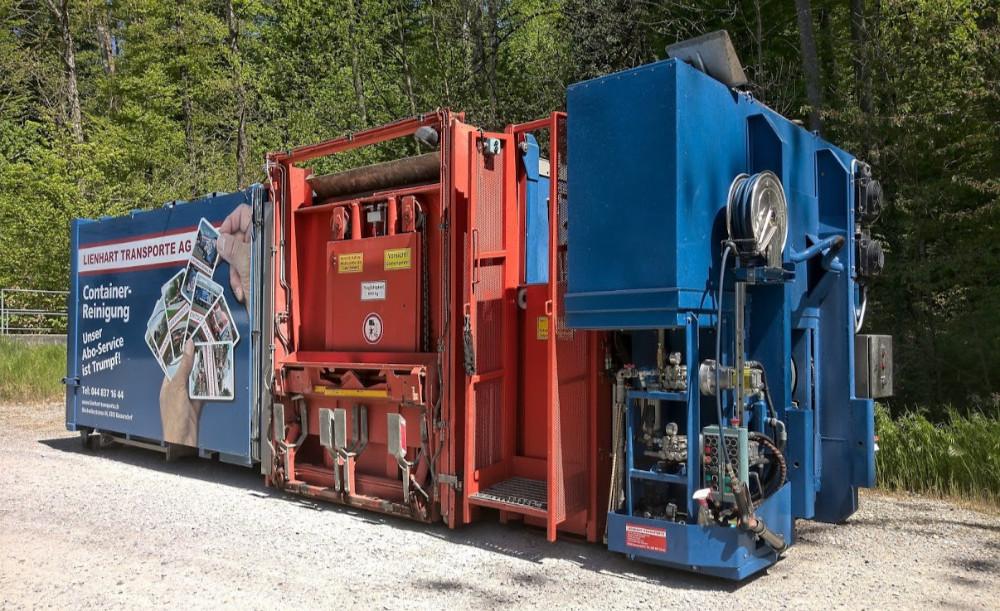 Fz.Nr. M1 Containerwaschaufbau