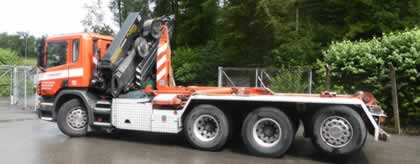 Fz.Nr. 15 Ladekran mit Hakengerät Scania